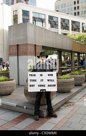"""Occupy Wall Street - Seattle zu besetzen, """"Dies ist unsere Zeit"""" - Stockfoto"""