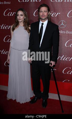 ANGELINA JOLIE & BRAD PITT 2012 PALM SPRINGS INTERNATIONAL FILM FESTIVAL AWARDS GALA PALM SPRINGS Kalifornien USA - Stockfoto