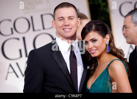 Channing Tatum und Jenna Dewan kommen auf Sonntag, 15. Januar 2012 auf der 69. Annual Golden Globe Awards im Beverly - Stockfoto