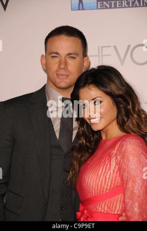 6. Februar 2012 - Los Angeles, Kalifornien, USA - Channing Tatum, Jenna Dewan Tatum Teilnahme an die Weltpremiere - Stockfoto