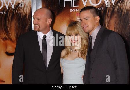 6. Februar 2012 - Hollywood, Kalifornien, USA - Rachel Mc Adams Channing Tatum und Michael Sucsy besuchen die Premiere - Stockfoto