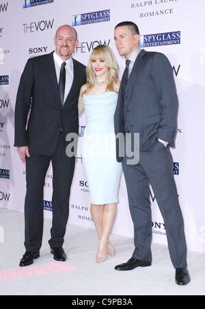 Channing Tatum, Rachel McAdams, Michael Sucsy im Ankunftsbereich für den GELOBEN Premiere, Graumans Chinese Theatre, - Stockfoto