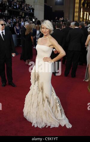 26. Februar 2012 - Hollywood, Kalifornien, US - CAMERON DIAZ.84. Oscar - Oscars.Hollywood, CA. 26. Februar, 2012.Ã'© - Stockfoto