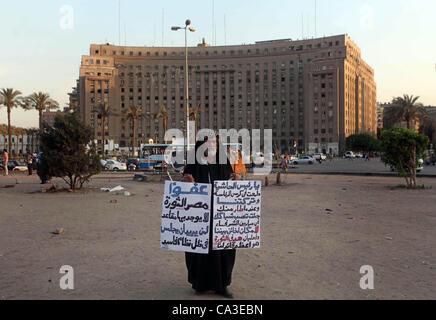 31. Mai 2012 - Kairo, hält Kairo, Ägypten - Ägyptische Demonstranten Parolen während einer Protestaktion gegen Kandidat - Stockfoto