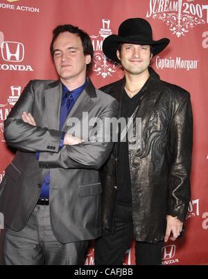 19. Oktober 2007 - statt Hollywood, Kalifornien, USA - Quentin Tarantino und Robert Rodriguez während SPIKE TV SCREAM - Stockfoto