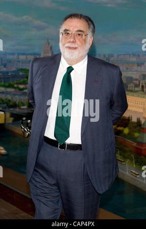 """Moskau, Russland. 4. April 2012. Francis Ford Coppola Pressekonferenz und Fototermin zum Film zwischen """"im Radisson - Stockfoto"""