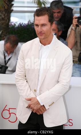 Schauspieler Matthew McConaughey in den Schlamm-Fototermin bei der 65. Cannes Film Festival France. Samstag, 26. Mai 2012 in Cannes