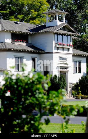 Ecole 41 alte Schulhaus wandte sich Weingut in der Nähe von Walla Walla Washington State Pacific Northwest USA - Stockfoto