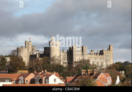 Arundel Castle Arun Valley West Sussex - Stockfoto