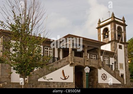 Europa PORTUGAL Azoren Terceira Praia da Vitoria Rathaus - Stockfoto