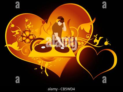 St. Valentinstag-Konzept für Diskothek, aus meinem Foto gemacht - Stockfoto