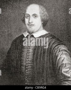 William Shakespeare, 1564-1616. Englischer Dichter und Dramatiker. Bekannt als das Stratford-Porträt. - Stockfoto