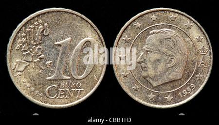 Belgien 1 Euro Münze Rückwärts Stockfoto Bild 24181885 Alamy