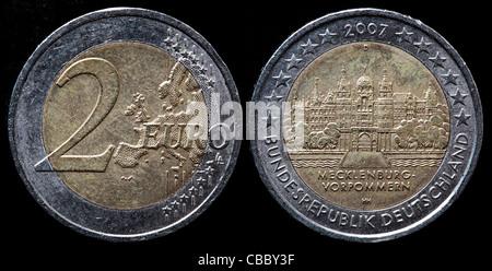 2 Euro Münze Deutschland 2007 Stockfoto Bild 41444681 Alamy