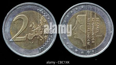 Niederländische 1 Euro Münze Rückseite Stockfoto Bild 24180851 Alamy