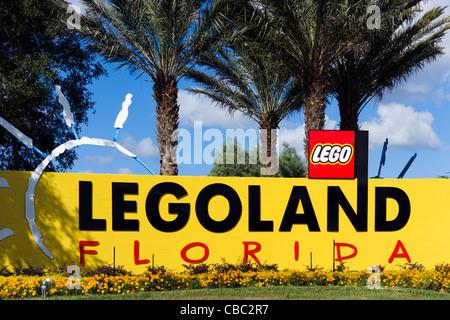 Eingang zum neuen (Stand 2011) Legoland Freizeitpark, Winter Haven, Zentral-Florida, USA - Stockfoto