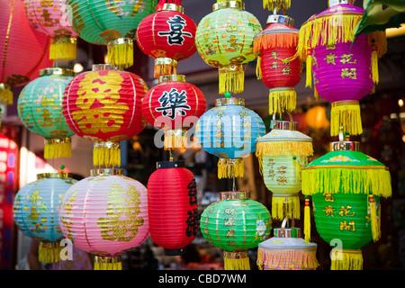 Laternen für Verkauf, Stanley Market, Hongkong, China - Stockfoto