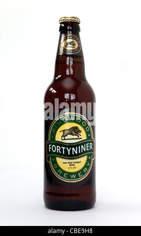Eissegelschlitten British Flaschen Bier aus der Brauerei Ringwood - Stockfoto