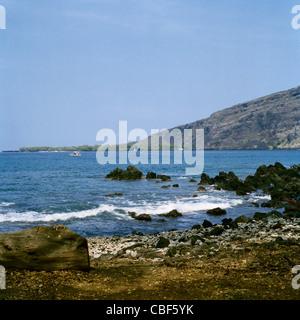 Napo'opo'o Strand gegenüber Captain Cook Monument Kealakekua Bay Big Island Hawaii - Stockfoto