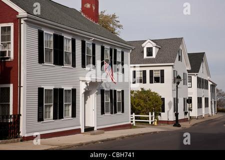 Weißen Holzhäusern, Plymouth, MA - Stockfoto