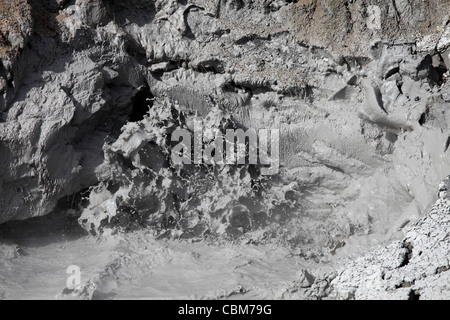 14. September 2009 - Schlamm Vulkan Thermalquelle Erdwärme Funktion, Yellowstone Caldera, Yellowstone-Nationalpark, - Stockfoto