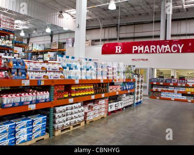 Costco Wholesale Lagerverkauf - Stockfoto