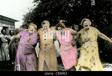 Historisches Foto Vier Tanzenden Frauen Um 1920 Stockfoto Bild