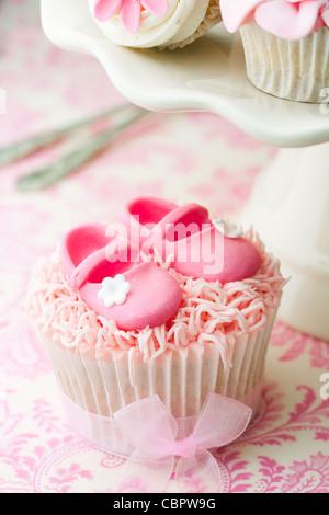Babyshower cupcakes - Stockfoto