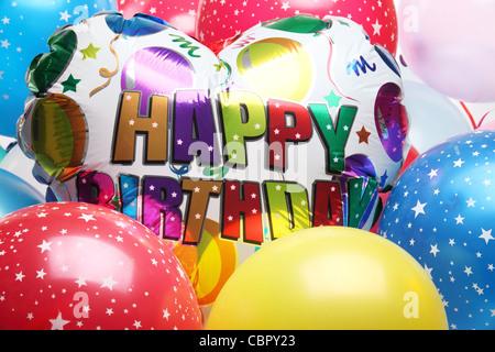 Ballons für Geburtstag Partydekoration - Stockfoto
