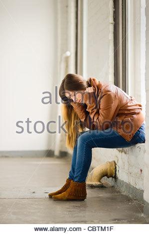 Aus einem depressiven mädchen