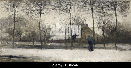 Willem Maris Winterlandschaft 1875 Rijksmuseum - Amsterdam - Stockfoto
