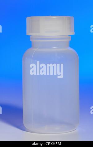 Kunststoff Probe Flasche Stockfoto