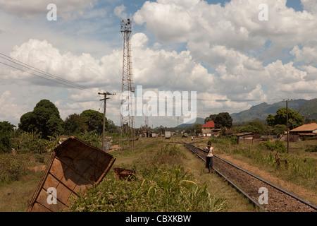 Industrielle Railyard - Morogoro, Tansania, Ostafrika. - Stockfoto
