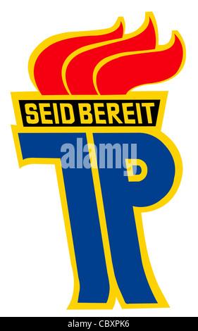 """Logo der nationalen Kinder Organisation """"Pionierorganisation Ernst Thaelmann"""" der DDR. - Stockfoto"""