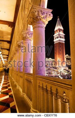Die venezianischen außen Flur, Las Vegas, Nevada - Stockfoto