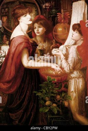 Dante Gabriel Rossetti La Bella Mano - Stockfoto