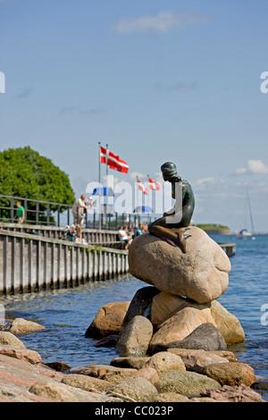 Die kleine Meerjungfrau in Kopenhagen - Stockfoto