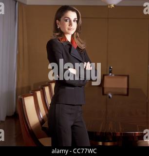 Königin RANIA von Jordanien - exklusives Porträt-Sitzung in Genf, Schweiz - Stockfoto