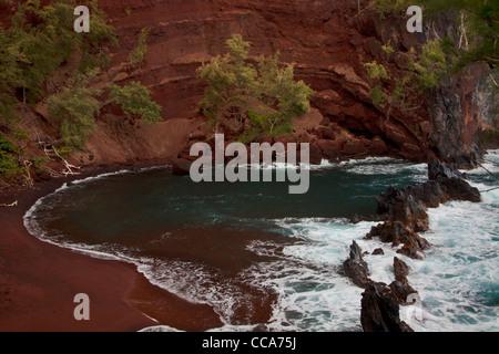 Red Sand Beach, Hana, Maui, Hawaii. - Stockfoto