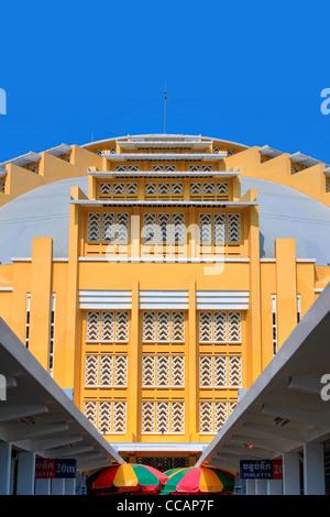 Eigelb gelb Deko | Phnom Penh Zentralmarkt | Kambodscha - Stockfoto