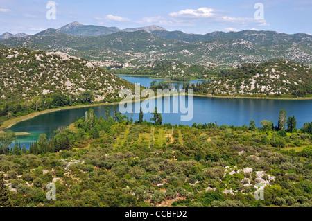 Bacina Seen, Dalmatien, Kroatien, Europa - Stockfoto