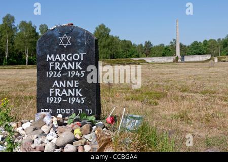 Denkmal von Anne Frank, Bergen-Belsen, Deutschland - Stockfoto