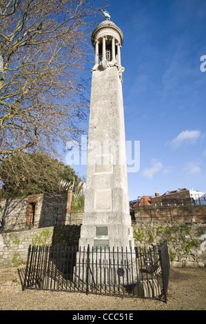 Das Mayflower Memorial auf Southampton Stadt Kai Hampshire England UK - Stockfoto