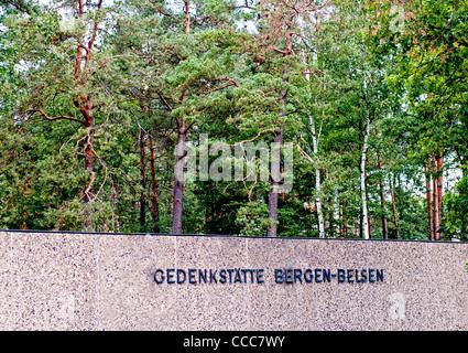 Konzentrationslager Bergen-Belsen; Konzentration Lager Bergen-Belsen - Stockfoto
