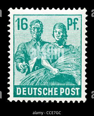 Briefmarke Deutsche Post Pflanzer 6 Pfennig 1947 Gestempelt