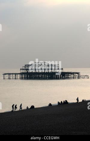 Pier West, Brighton, East Sussex, England, uk