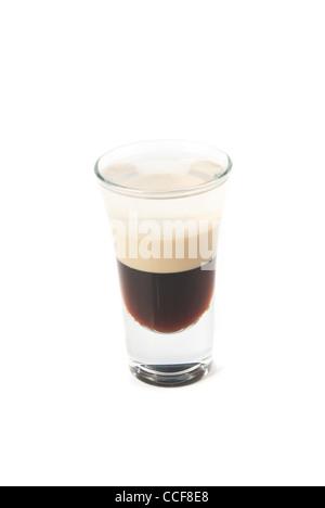 B-Cocktail 52 isoliert auf weißem Hintergrund