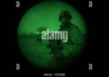 15. März 2008 - Abu Assef, Taji, Irak - Soldaten von Alpha Company, 1. Bataillon 27. Infanterie-Regiment von 2nd - Stockfoto