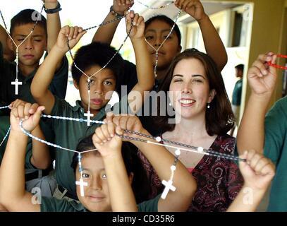 11. April 2008 - Indiantown, Florida, USA - Hoffnung Rural zweite Klasse Schüler in Katherine Murphy, zweiter von - Stockfoto