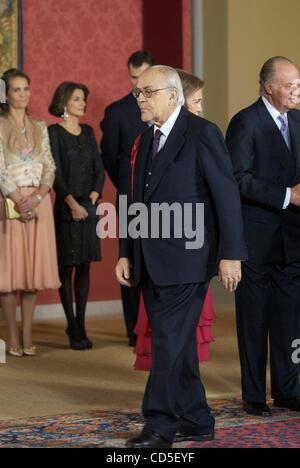Madrid. (01.09.2008). Palacio del Pardo.  Der Ex-Präsident der spanischen Regierung Leopoldo Calvo-Sotelo, vergangen - Stockfoto